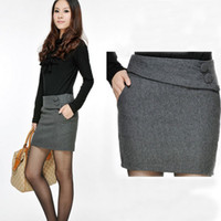 Cotton Above Knee  Hot sale fashion work dress suit skirt slim women's pockets skirt casual dress women's clothing