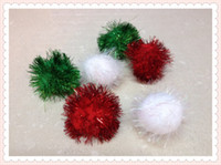 Wholesale pet toys GLITTER POM POM BALLS quot Sparkly Shiny Small Cat Kitten Toys mixed colors
