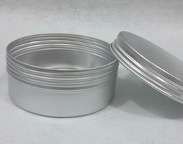 Wholesale 150ml Threaded Aluminium Box Silver Color Cosmetic Box mm x mm