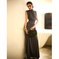 Wholesale Western Modern New Dress Slim Stand Collar Ball Gown Prom Dress Elegant Evening Dress Maxi Dress