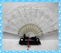 Wholesale NEW wedding WHITE LACE fan Hand bridal party Fans FANCY DRESS GEISHA SPANISH LADY