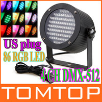 Wholesale 25W RGB LED Light Channel DMX512 Control Laser Projector DJ Party Disco Stage light US plug