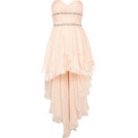 Wholesale 2013 New Style Light Pink Short Prom Dresses High Low Beaded Chiffon Sweetheart Party Dress Gowns