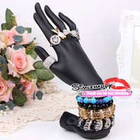 Wholesale Slende Hand Display Black Jewelry Displays Stand holder Ring Bracelets bangle Jewelry organizer sale