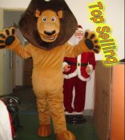 Wholesale Top Selling Alex Lion Mascot Costume Plush Cartoon Character Suit Adult Size Free EMS Shipping