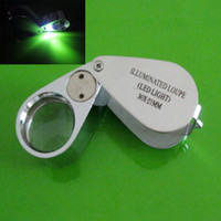 Wholesale 10pcs LED Light Eye Magnifier Glass Jeweler Loupe x mm