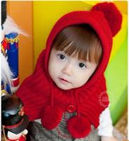 Wholesale 5 Colors Handmade Baby Kid Wraps Shawl Cape Cloak Crochet Knit Button Hats Caps