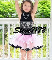 Wholesale girls gallus one piece dress overall cake tutu dress petticoats ballet skirt performance dress P129