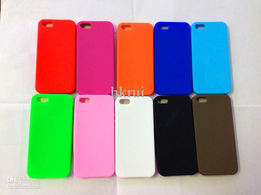 Cell Phone Case Silica Gel Shell Back Case For Iphone 5 5g ...