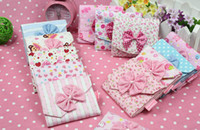 EW992   Sanitary Napkin Cotton Pad Bag Pouch Case Holder Bowknot Xmas Nice Gift By Post Air Mail 50pcs