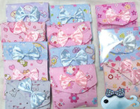 EW992   Cotton Napkin Sanitary Pouch Pad Bag Case Holder Bowknot Xmas Nice Gift Free shipping 200pcs