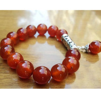 Wholesale Agate beads bracelet elastic fashion women bracelet gift jewelry black red rosary beaded bracelet