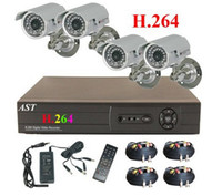 Wholesale H CCTV CH Net DVR Sharp CCD waterproof Camera Home Security Camera system