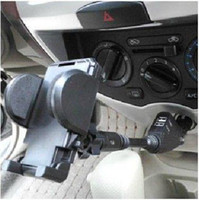 Car Chargers For Apple iPhone  12V Car charger Cigarette Lighter Dual USB Charger Mount Holder Stand For iphone 4S 4 5 GPS