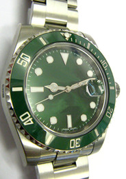 Wholesale luxury BRAND men CERMAIC BEZEL mechanical watches automatic MOVEMENT TH ANNIVERSARY green dial mens dress stainless steel watches SB519