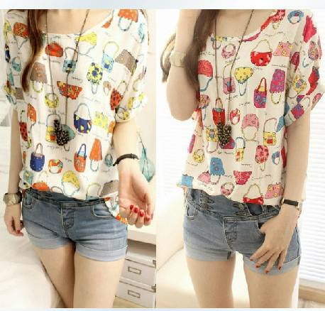Wholesale Fashion Ladies' Chiffon Blouses Elegant Chiffon Blouse ...