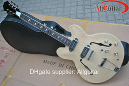 Wholesale natural casino jazz Semi Hollow electric guitar HOT SALE