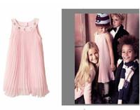 baby girl kids pleated dress chiffon dress rhinestone dress ...