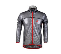Wholesale New Style Grey cycling raincoat cycling jacket of ultra thin transparent waterproof