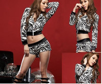 Wholesale Hip hop dance HiphopDS performance clothes Fashionable men and women steel pipe stage outfit Twinset
