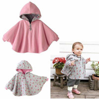 Wholesale baby cloak boys girls cape outerwear jackets coat Shawl Robe Tippet cloak Two sided wear baby clothe