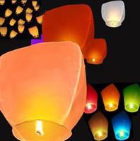 Wholesale Coloured Sky Lanterns Chinese Fay Balloon Christmas gift Wishing Lamp Festive Decorative Lanterns