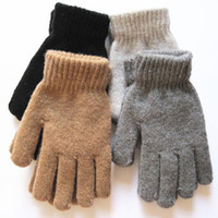 Wholesale Han2 ban3 fashionable men and women wool gloves manufacturers selling monochromatic pure c
