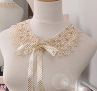 Wholesale Ladies Faux Pearl Crystal Lace Collar Wedding Party Jewelery Bib Necklace mix color