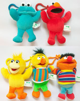 Wholesale retail Colorful Sesame Street Elmo Stuffed Plush Dolls Toys Keychain inch