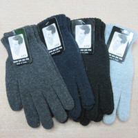 Wholesale 2013 autumn winter fashion men s gloves to keep warm winter pure color wool pile knitted gloves