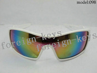 Wholesale Stylish Men s Sunglasses White Polycarbonate Material Frame Sunglasses Rainbow Resin Lens