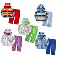 Wholesale baby clothing baby boys girls set suit long sleeve kids clothes Two piece set Suit Shirt trousers