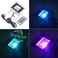 Wholesale 10W RGB Flash LED Flood Light Landscape Lighting With Remote Control LM AC V