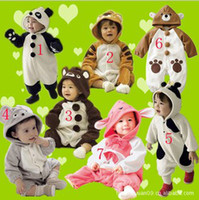 Unisex 0-3 Months Winter PINK Baby Animal romper pyjamas jumpers toddler romper Pink Rabbit bodysuit sleepwear jumpsuit