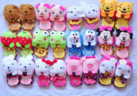 Wholesale Cute Winter Cotton Children Slipper Kids Slippers Baby Shoes Footwear Warm House Slippers Bedroom