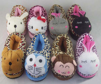 Wholesale Animal Children Slipper Kids Slippers Baby Slippers Footwear House Slippers Bedroom Cotton Shoes