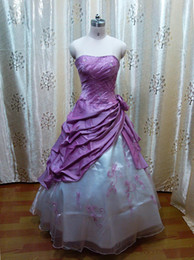 Wholesale Hot Sale Elegant Strapless Taffeta Embroidery Lace up Ball Gown Formal Gowns Quinceanera Dress L033