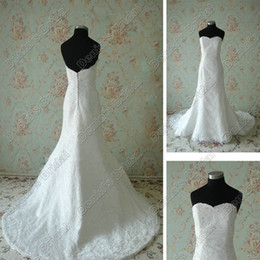 Vintage Lace Wedding Dresses 2017 Sweetheart Neckline Sequins Sparkling Beaded Lace Actual Images Bridal Gowns DB265