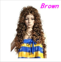 Wholesale FESTIVAL performing wig Anime cos wig color long curly hair
