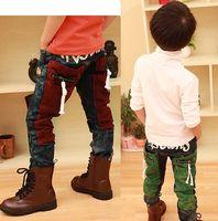 high waist jeans - Fashion Children Jeans Kids Clothing Denim Jeans Kids Dress Boys Trousers Pants High Waist Jeans