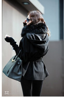 Wholesale 2012 NEW ARRIVAL Korean fashion women collar fur batting jackets winter fox Double Breasted coats