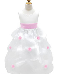 Wholesale 2012 flower girl dresses beach A Line ankle length Bowknot Taffeta Jewel Hot fashion M107