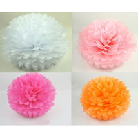 Wholesale Fashion tissue paper flower ball Tissue Paper Pom Poms quot new year party decoration