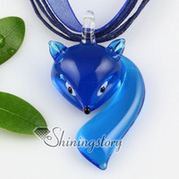 European murano glass pendant - Fox lampwork murano glass handmade italy pendants for necklaces jewelry jewellery Fashion jewelry necklace Fashion necklace Mup113