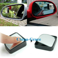 Wholesale 3R Push Rearview View Convex Mirror Wide Angle Sector Adjustable Auto Car Blind Spot Mirror Black