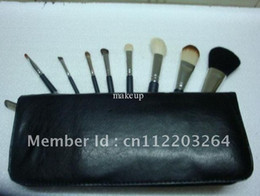 Wholesale Makeup Pieces Brush Set with number Kit leather Pouch set