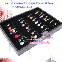 Wholesale Necklace Pendant Tray Jewelry Display Trays HOT small wooden pendants shoecase cheap jewelry display