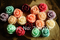 Wholesale CHEAP mm Colors Resin Rose Flower Beads For Jewelry Mobile Phone DIY Accessories bag