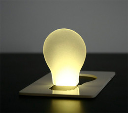 Novelty LED Card light Mini Pocket Light lamp yellow 10pcs