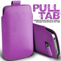 Wholesale DHL free PU LEATHER PULL TAB POUCH SKIN CASE in colors FOR Galaxy Note N7100 N7000